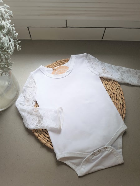 Image of Lace sleeve Onesie.