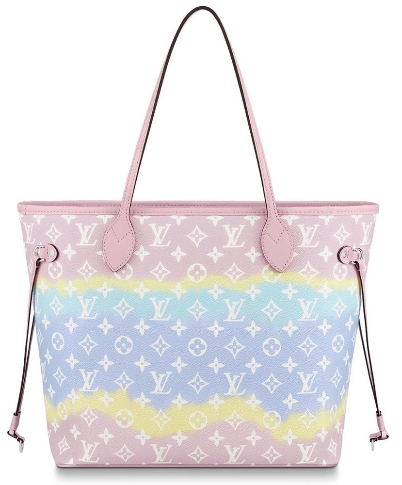 Image of Louis Vuitton Neverfull Escale Pastel Pink Monogram Canvas Tote