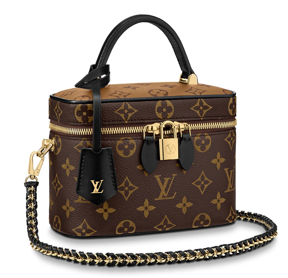 Image of Louis Vuitton Vanity Pm Brown Monogram Canvas Cross Body Bag