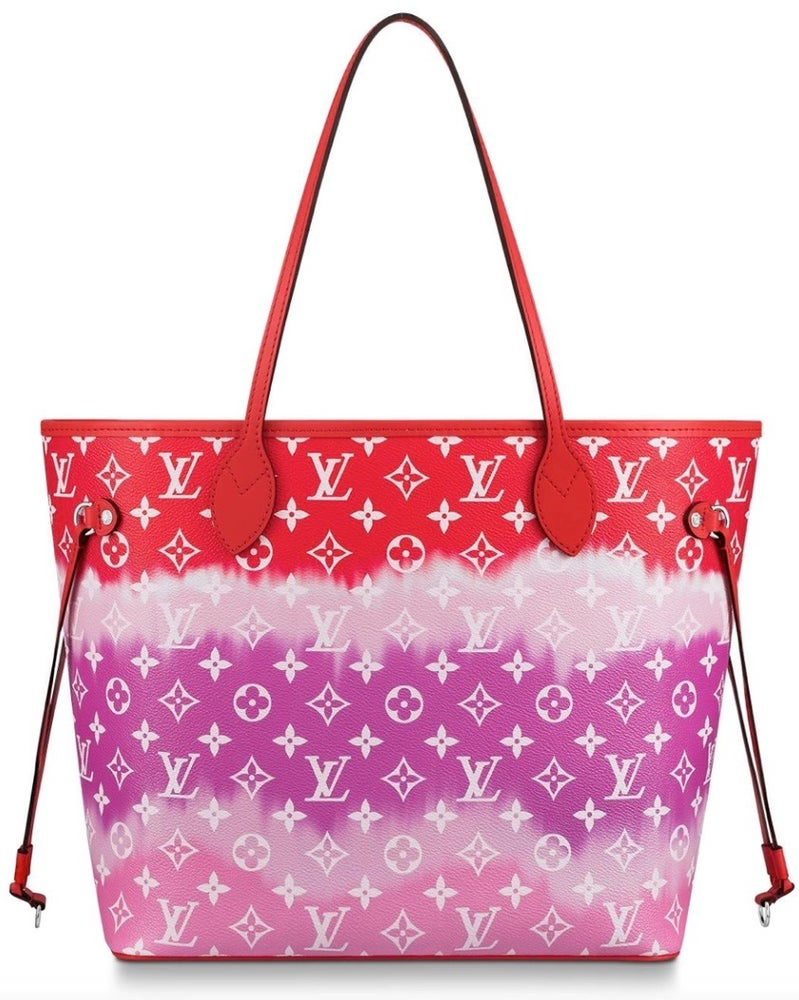 Image of Louis Vuitton Neverfull Escale Rouge Monogram Canvas Tote