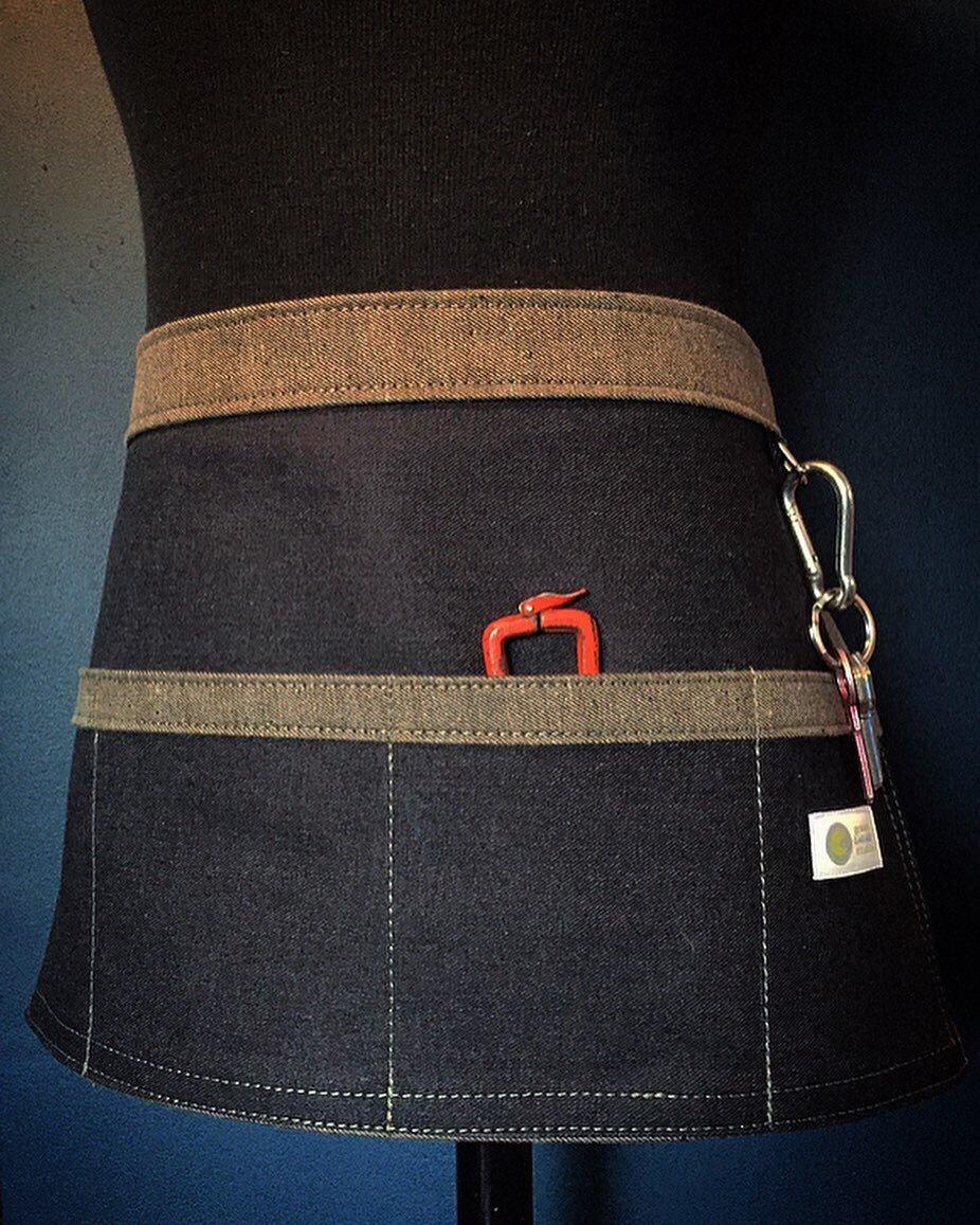 4 pocket Denim Waist Apron | Handmade 14 oz Dark Indigo Denim Waist Apron