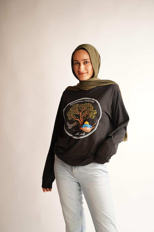 """Jerusalem Olive Tree"" long sleeve"