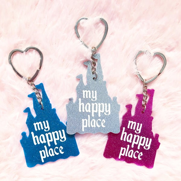 Image of Happy Place Keyring