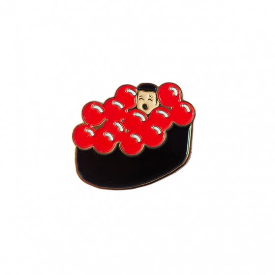 Image of Salmon eggs maki pin