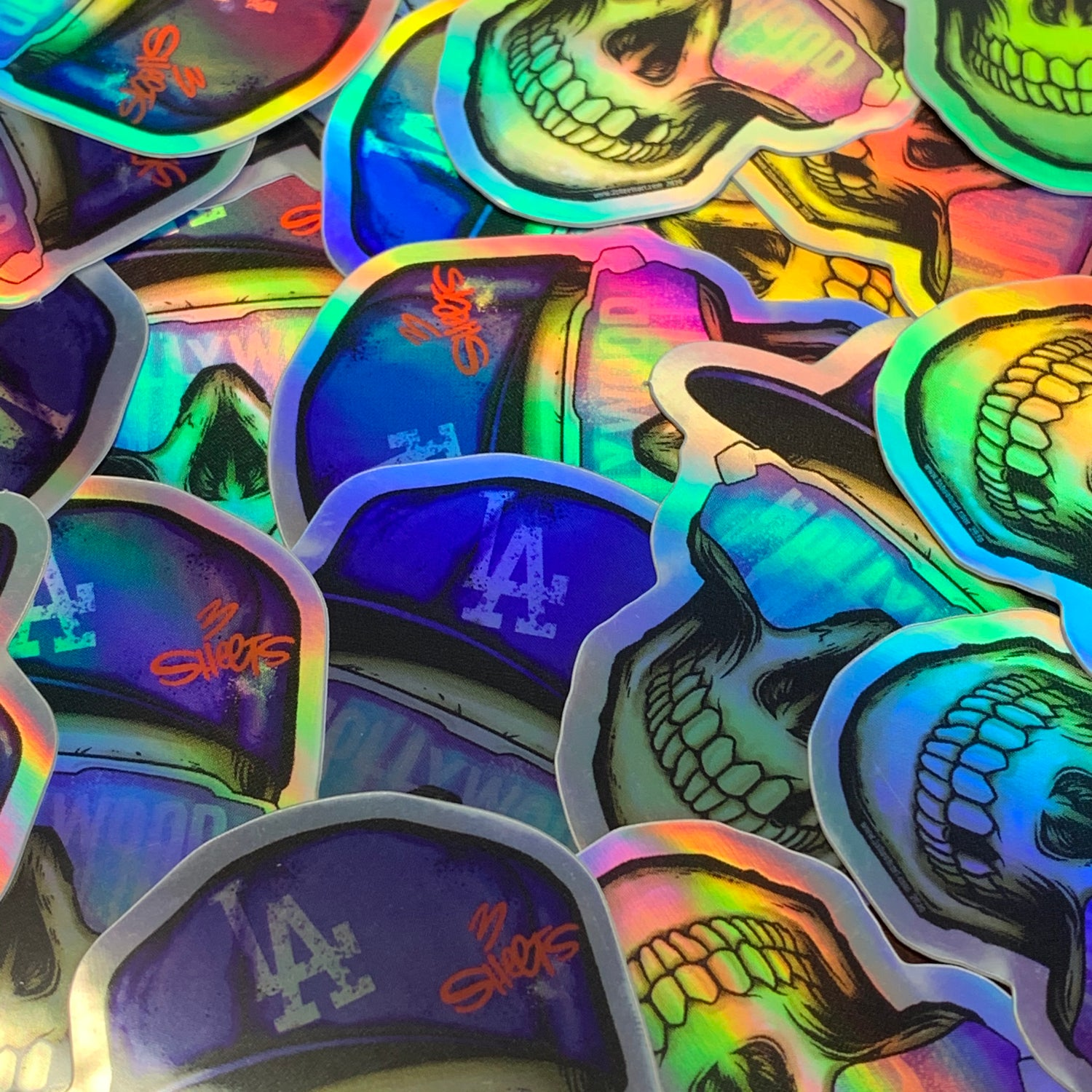 Image of 3 Sheets HOLLYWOOD Lifestyle Holographic Sticker