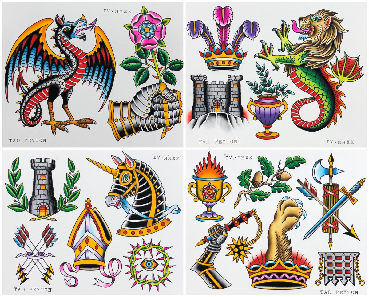 """""""Medieval Beauty, Violence & Miscellaneous Heraldry"""" flash set PRE-ORDER"""