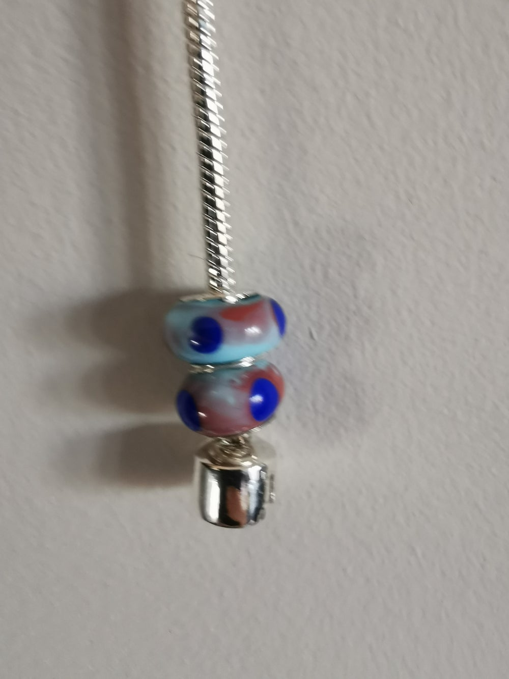 Glass Beads with Silver Cores (Pandora Style)