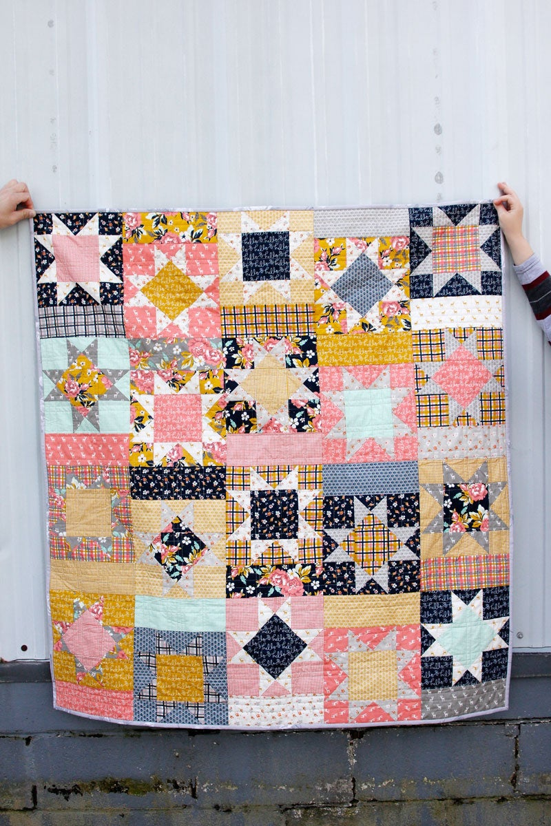 Image of the HAPPY PATCH quilt PDF Pattern