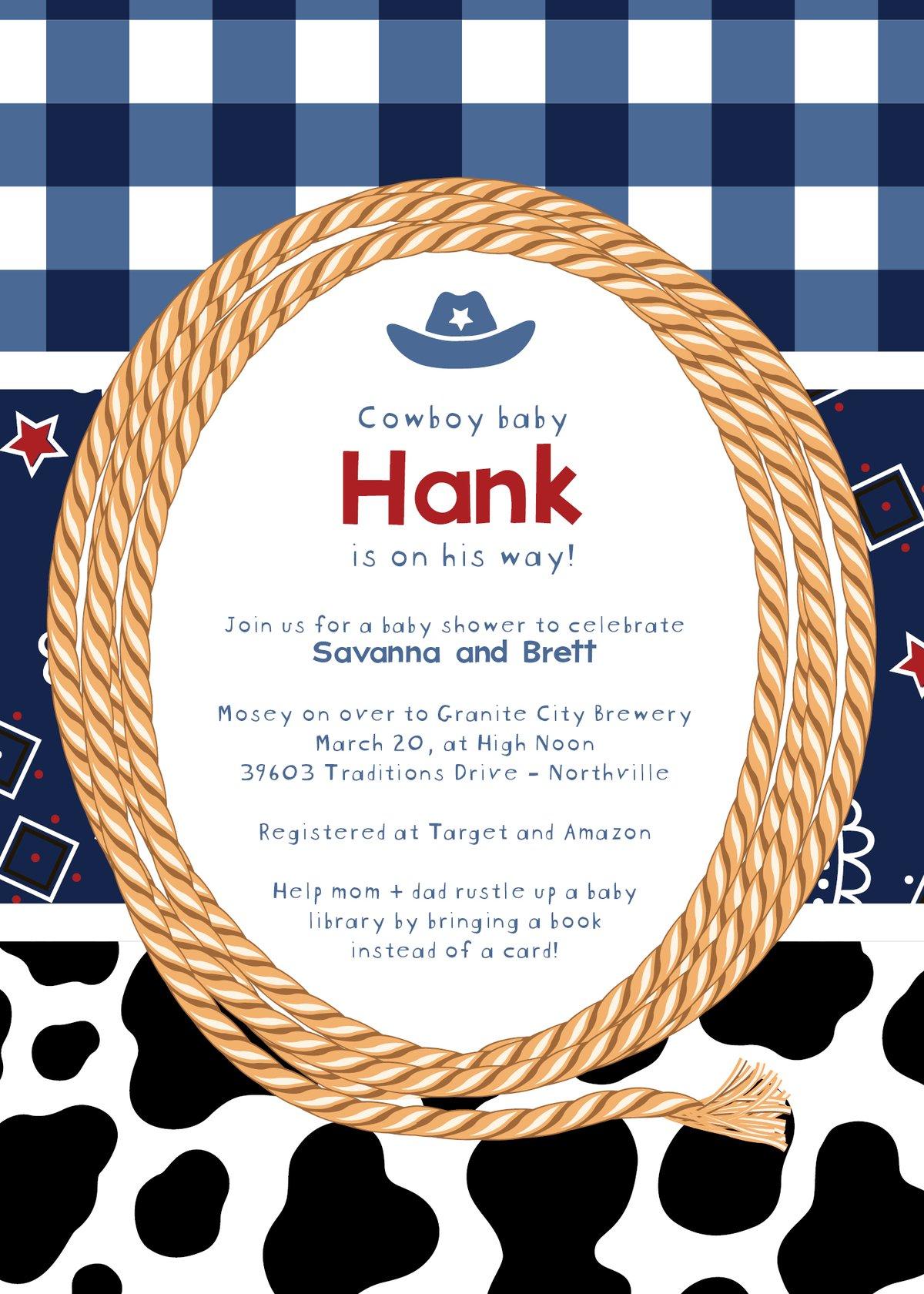 Cowboy Baby Announcement