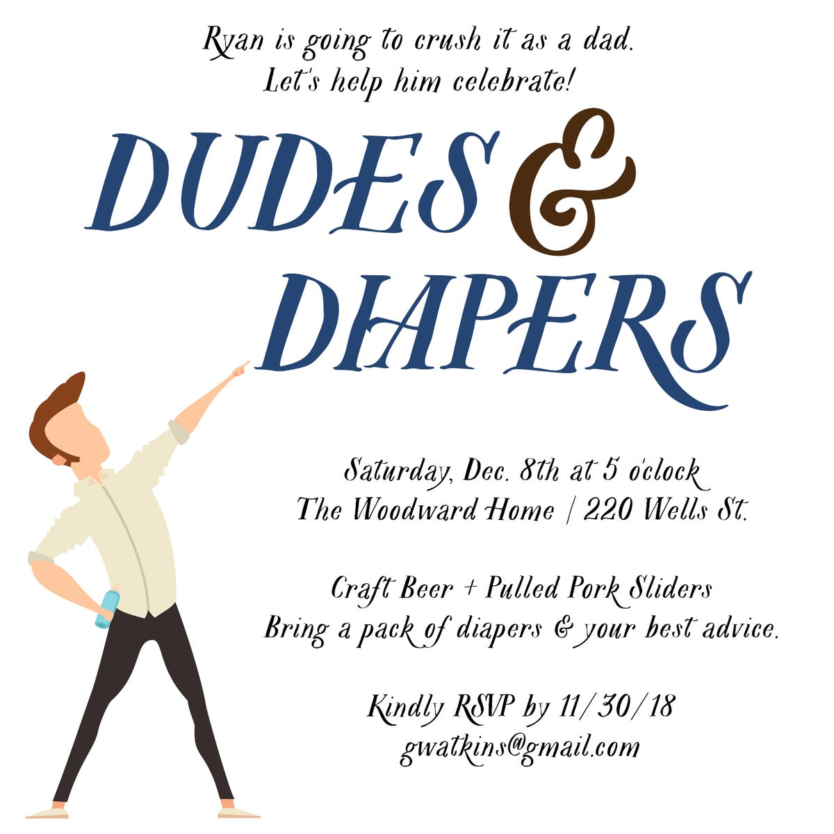 Dudes and Diapers Party