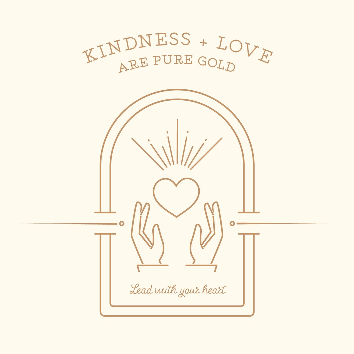 Kindness is Golden Note Cards
