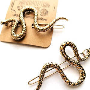 Image of Antiqued Snake Eyes Hair Clip