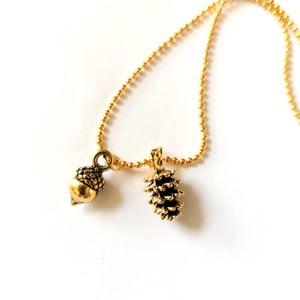 Image of Golden Mini Woodland Necklace