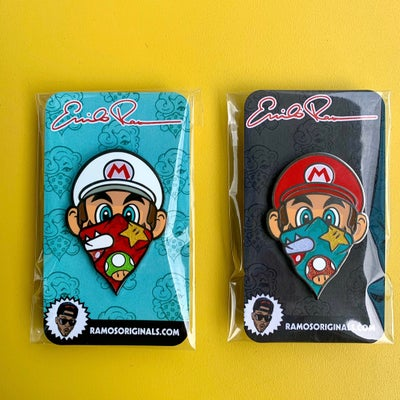 Image of MARIO PINS 2.0 (set of 2/ both pins) PRE ORDER (read description below)