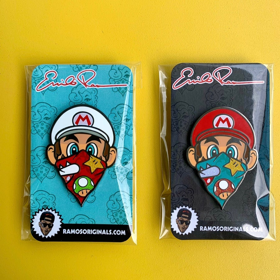 Image of MARIO PINS 2.0 (set of 2/ both pins)