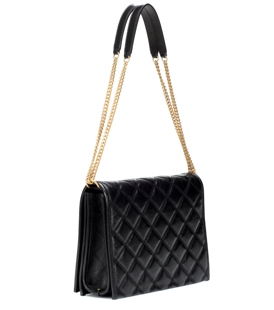 Image of Saint Laurent Small Becky Black Leather Cross Body Bag