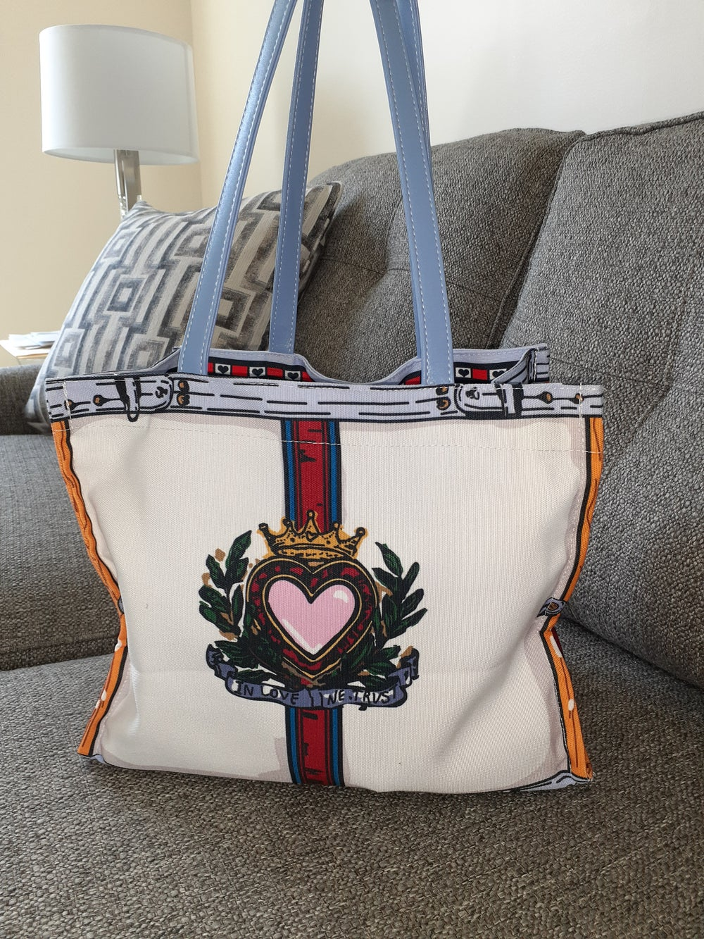 Image of Queen of Hearts tote bag