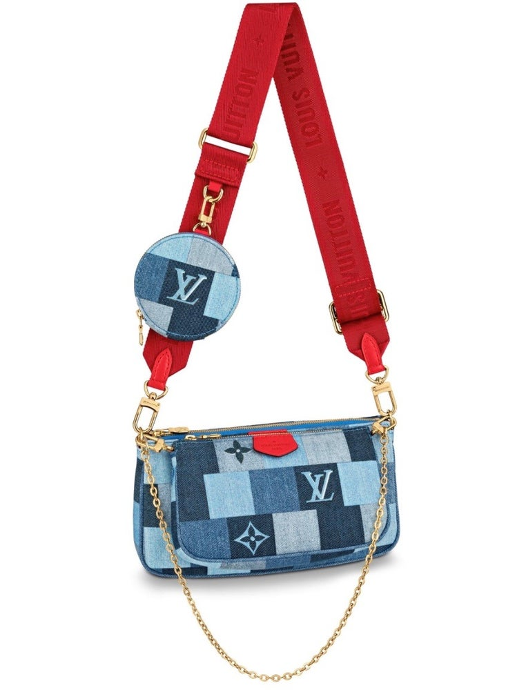 Image of Louis Vuitton Pochette Multi Blue Denim Monogram Cross Body Bag