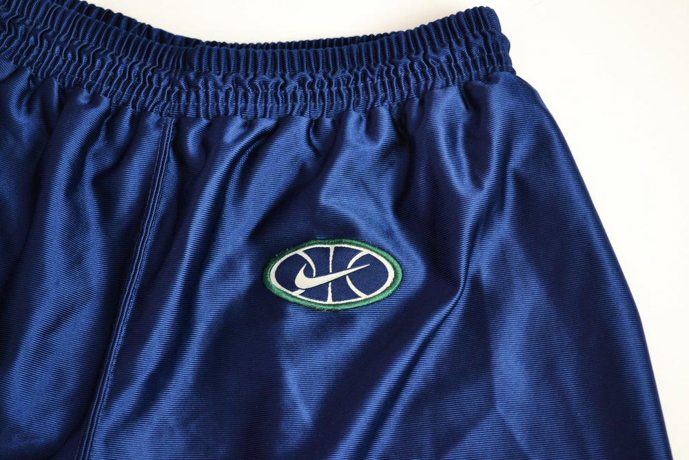 Image of Vintage 1990's Nike Air Uptempo Basketball Dazzle Shorts Sz.L (Women's)