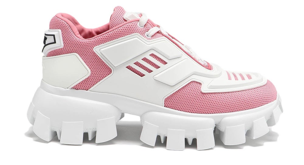 Image of Prada Pink & White Cloudbust Thunder Sneakers