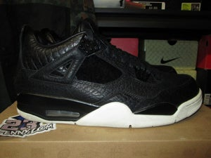 "Image of Air Jordan IV (4) Retro Pinnacle ""Black"" *PRE-OWNED*"