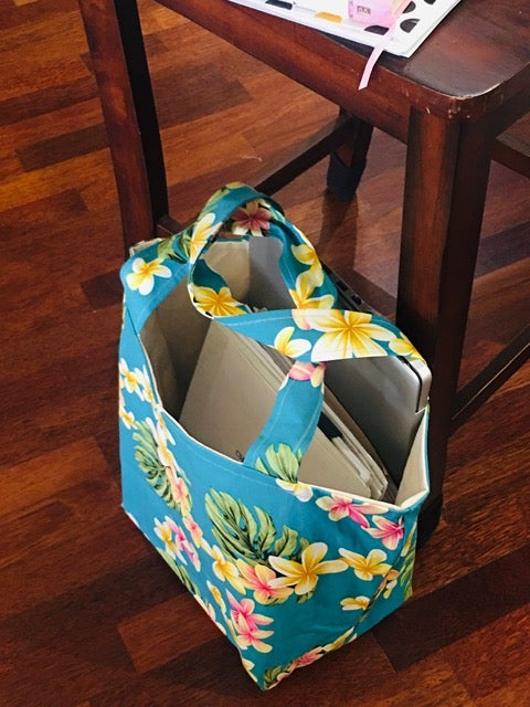 On Sale! 20% Off! Regular $45.00 Turquoise Blue Plumeria Tote Bag