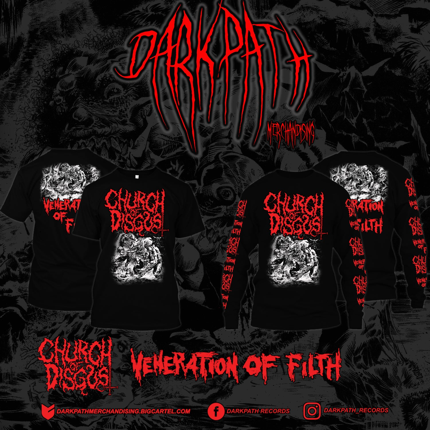 Image of CHURCH OF DISGUST - 2 Designs Merch