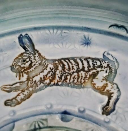 Image of Running Rabbits Porcelain Garlic Grater