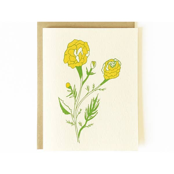 Image of Nicole Monk Marigolds Card