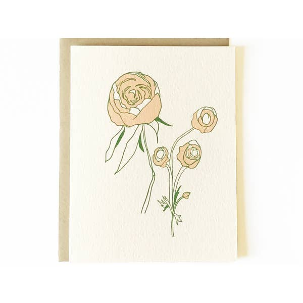 Image of Nicole Monk Peonies Card