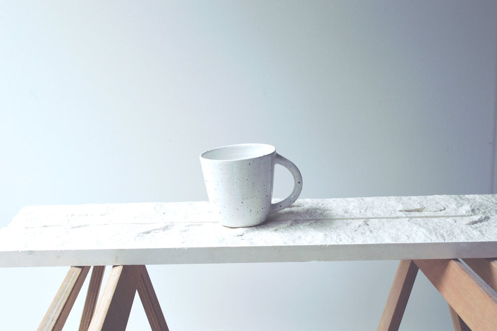 Image of White Speckle Mugs