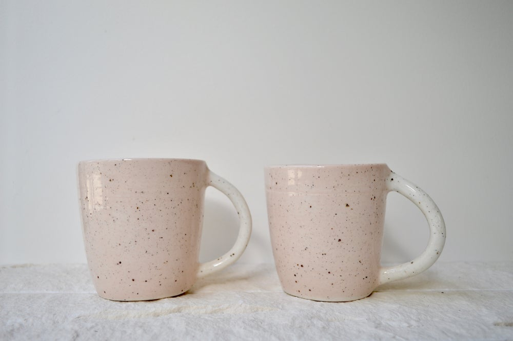 Image of Pale Pink Speckle Mugs