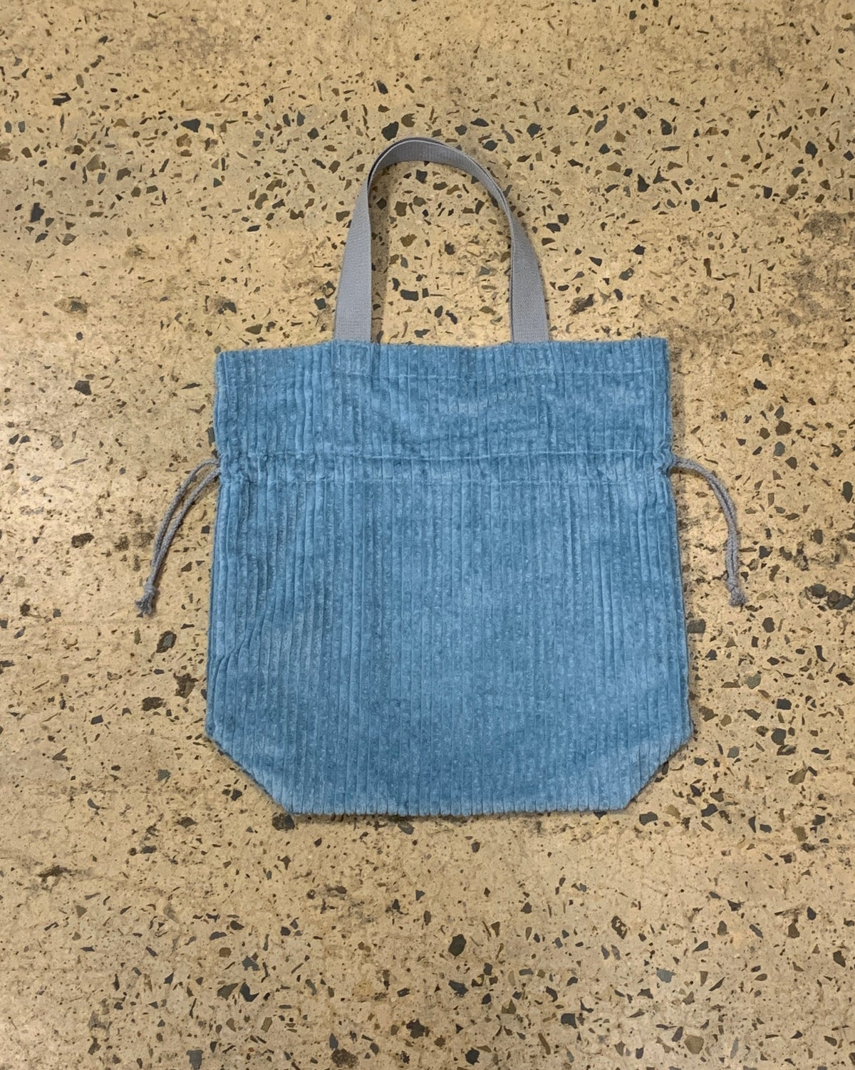 Image of Cord Drawstring Bag Blue