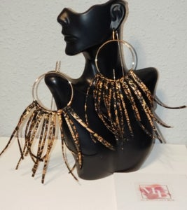 Image of Gold and Bronze Lela Fringe Earrings