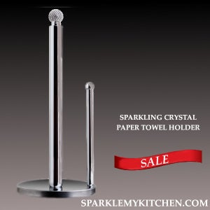 Image of Sparkling Crystal Paper Towel Holder
