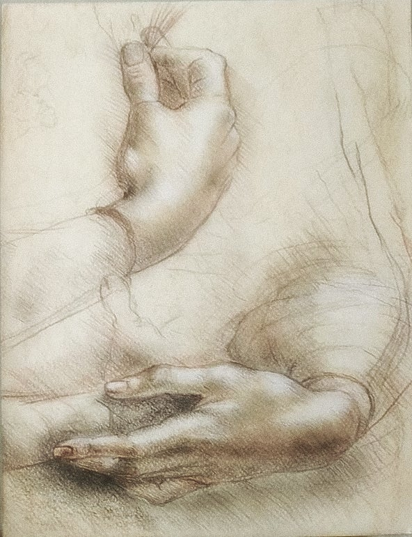 """Image of """"Study of hands"""""""