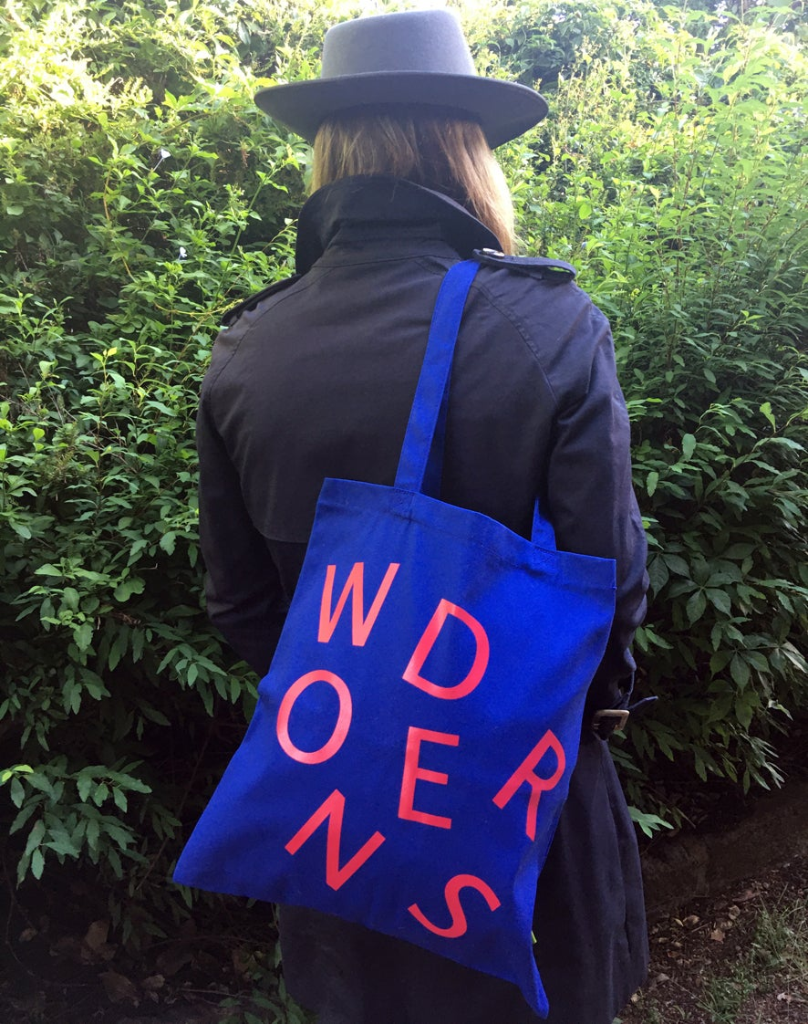 Image of 'Wonders' organic cotton canvas book bag