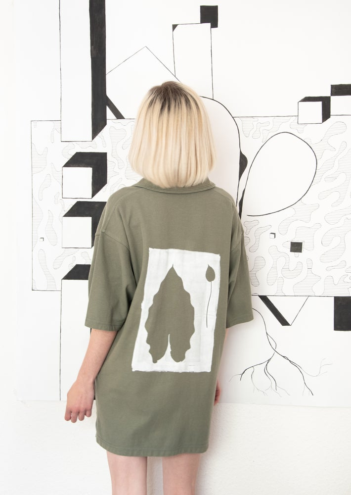 Image of shirt with leaf print