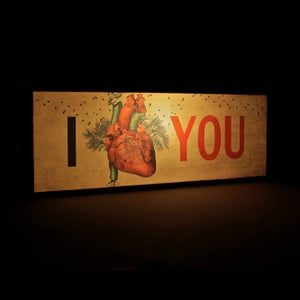 "Image of Lámpara ""I love you"""