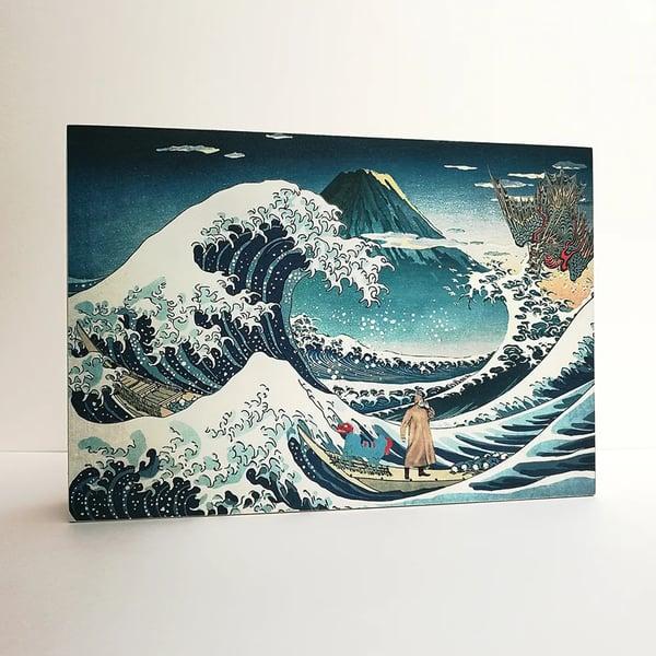 "Image of Lámpara ""La gran ola de Kanagawa"""