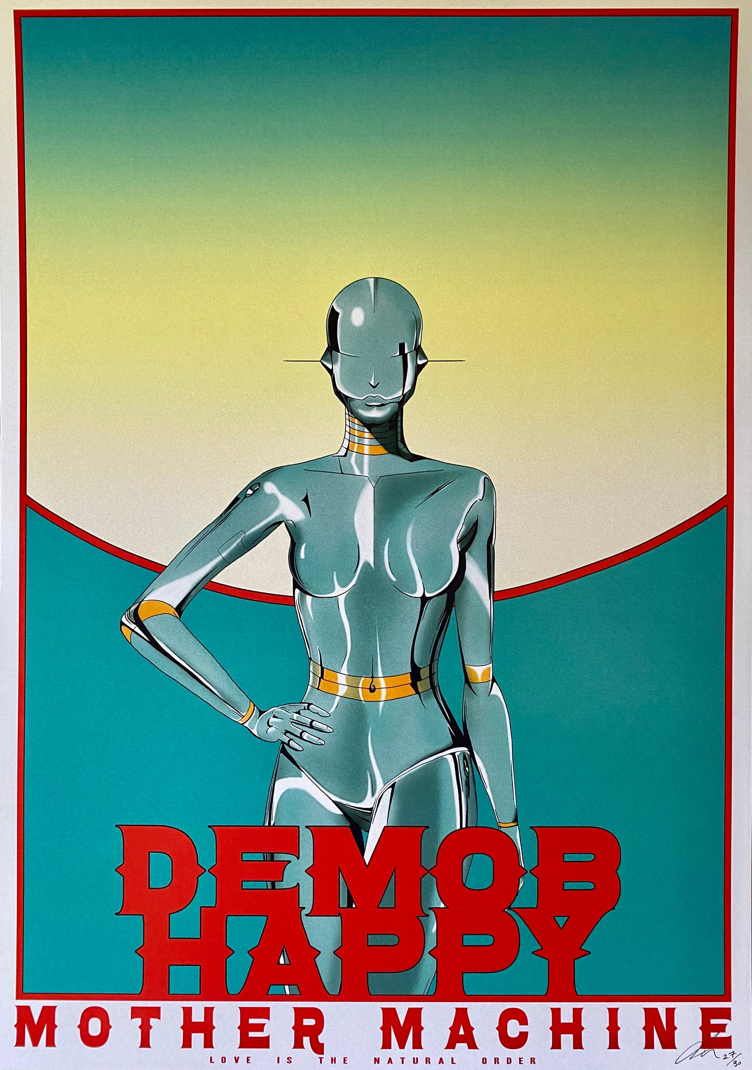 A3 Demob Happy Poster / Signed & Numbered