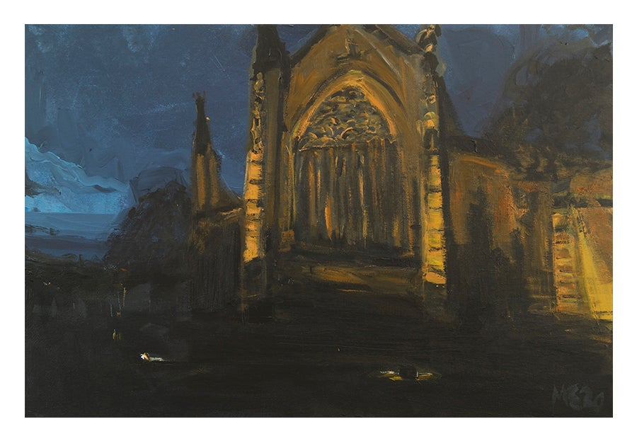 Image of Carlisle Cathedral (Winter Dusk) Limited Edition Giclée Print