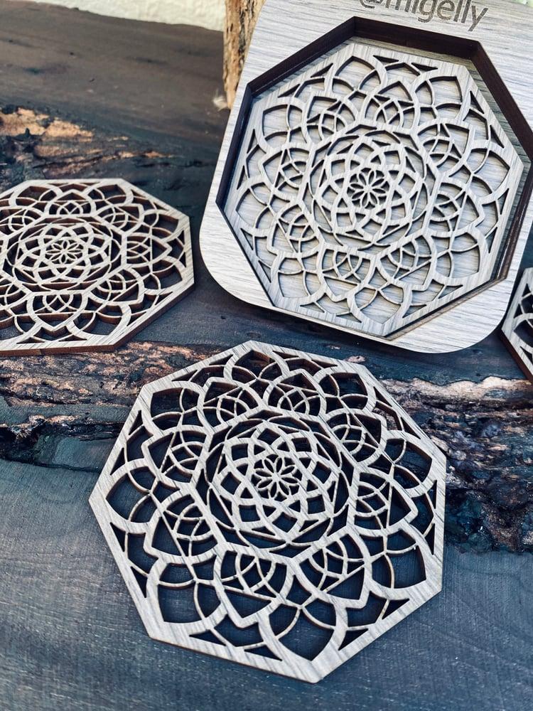 """Image of Wooden Coaster """"Octadala"""""""