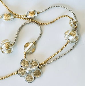 "Image of Dainty flower motif 50"" necklace anpn150"