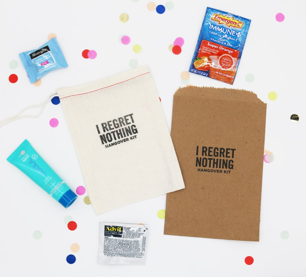 Image of I Regret Nothing Paper Bag Hangover Kit