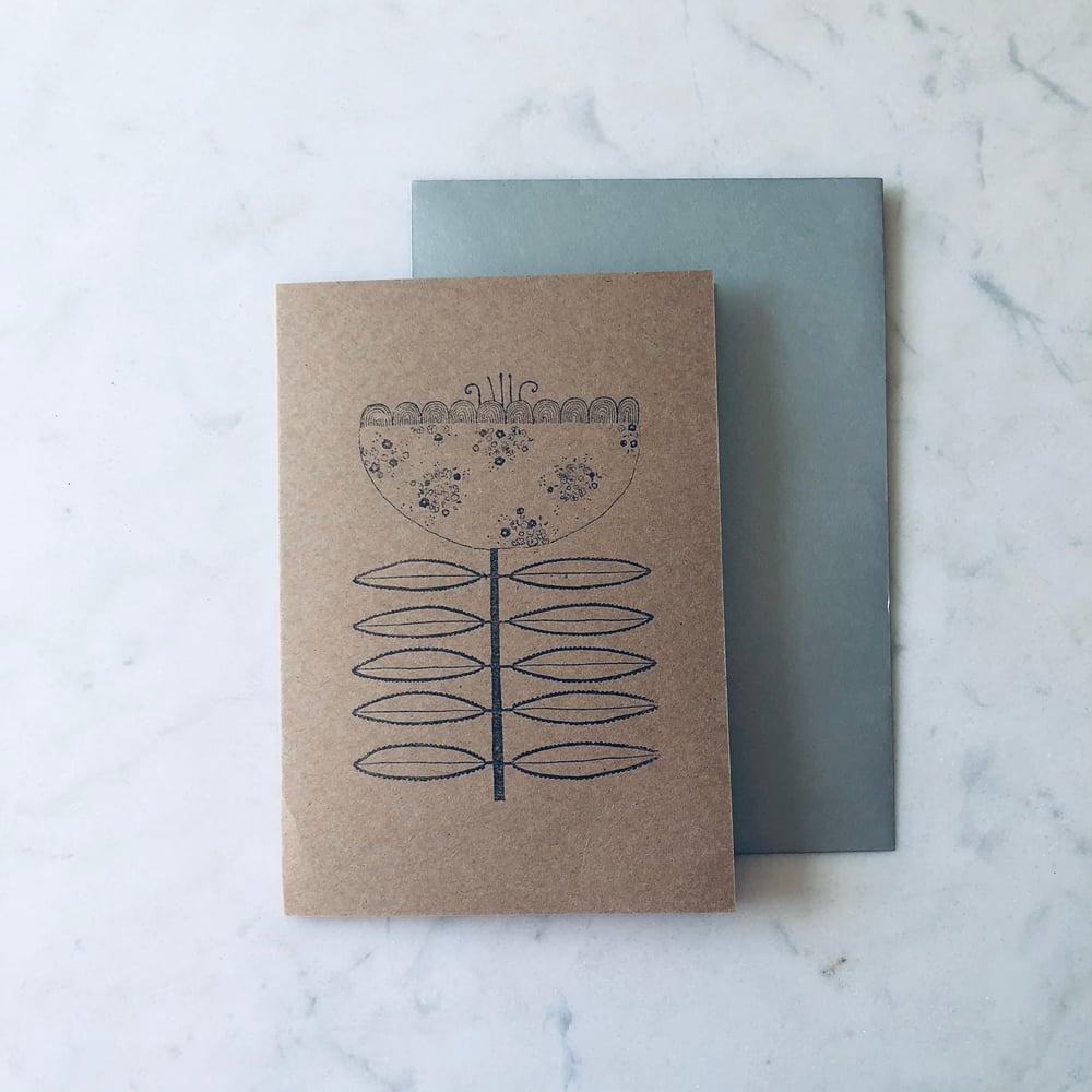 Image of Folk Flower Card