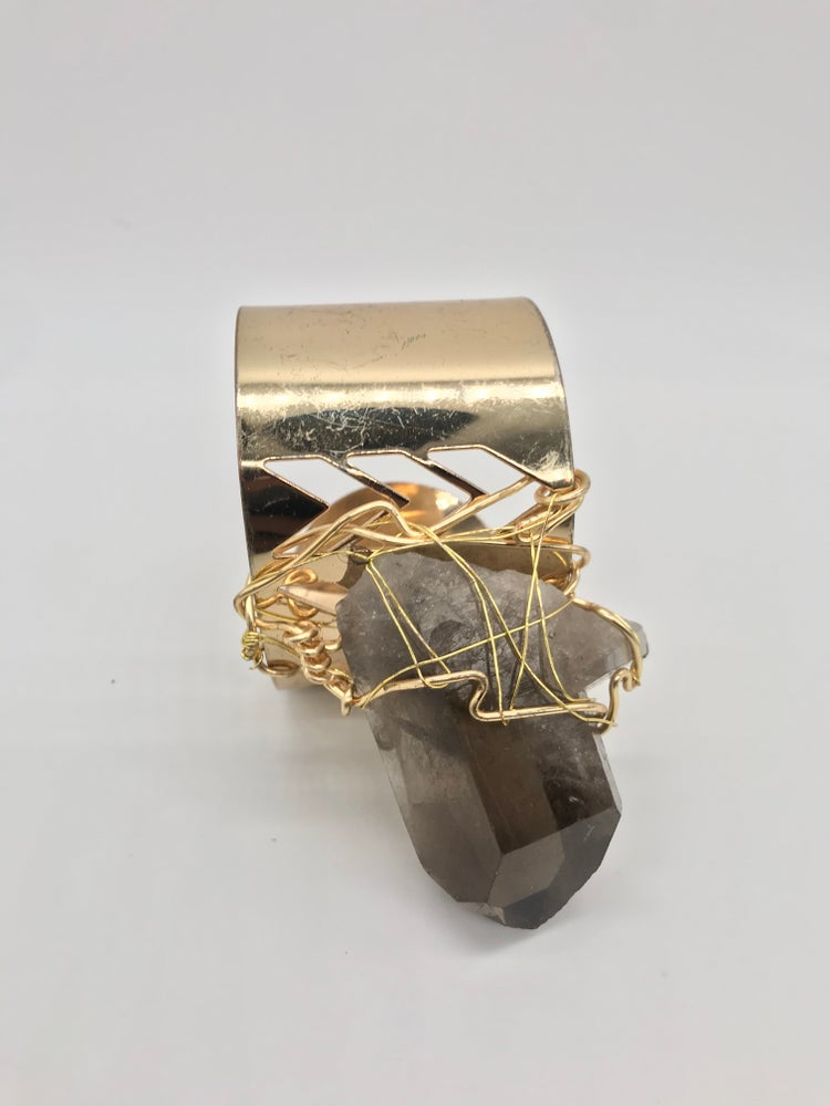 Image of The biggest statement vintage Smokey Quartz bracelet