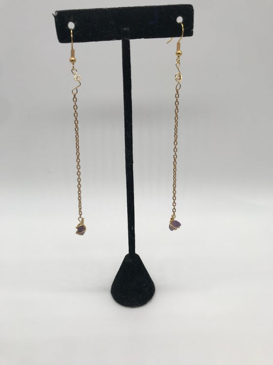 Image of Elegant amethyst earrings