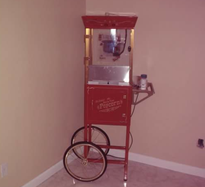Red 4 ounce POPCORN MACHINE