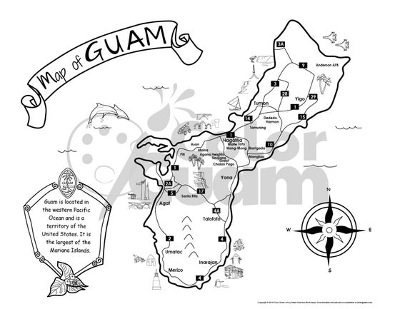Image of Map of Guam
